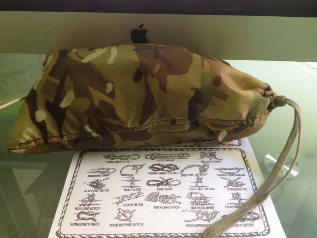 British Army basha stuff sack.